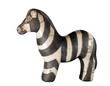 Clay Model of Zebra