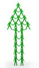 Team Pyramid Green Up Arrow