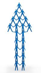 Team Pyramid Blue Up Arrow