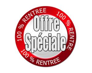 logo 100% rentrée offre spéciale rouge
