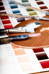 Artistic equipment and color chart