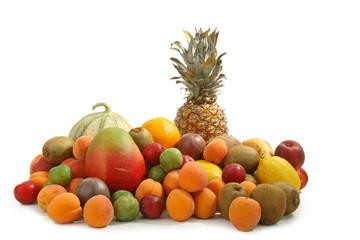 nourriture, fruits sur fond blanc