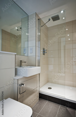 modern en-suite bathroom