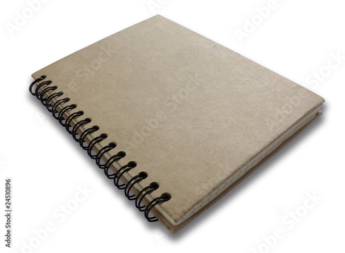 Brown plain closed notebook