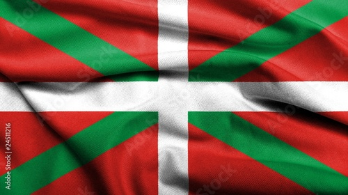 3D Flag of Basque Country satin