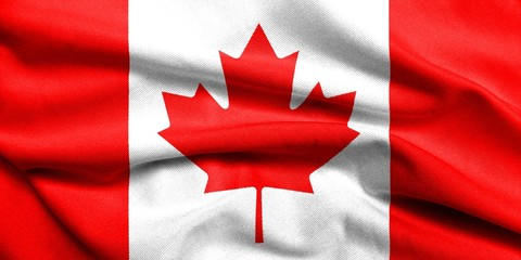 3D Flag of Canada satin