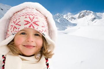 Little girl on winter vacation