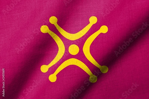 3D Flag of Cantabria - Labaro waving