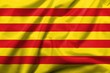 3D Flag of Catalonia satin