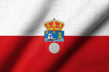 3D Flag of Cantabria waving