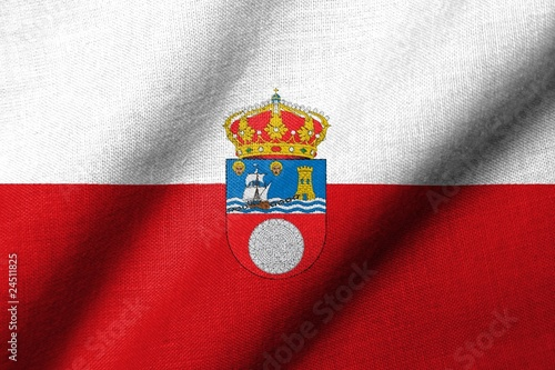 3D Flag of Cantabria waving
