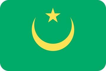 Drapeau-Mauritanie-Coins-Arrondis