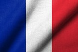 3D Flag of  France waving
