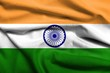 3D Flag of  India satin
