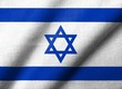 3D Flag of  Israel waving