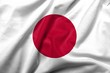 3D Flag of  Japan satin