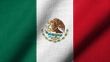 3D Flag of  Mexico waving