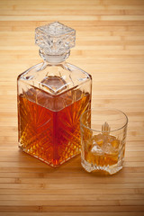 Whiskey - decanter and drink