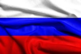 3D Flag of Russia satin