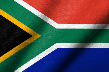 3D Flag of South Africa waving