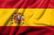 3D Flag of Spain satin
