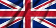 3D Flag of UK satin