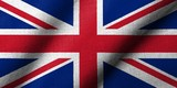 3D Flag of UK waving