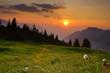 Fototapeten,sonnenuntergang,sonne,sommer,berg