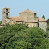 Romanesque cathedral of Sovana, Tuscany, Italy poster