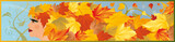Banner autumn girl, vector