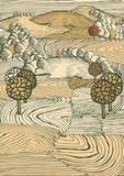 Fototapety Pastel landscape