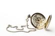 eine alte taschenuhr auf weissem hintergrund - 24517813
