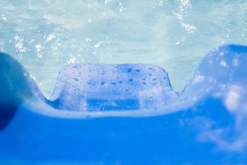 tobogan de la piscina