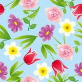 Fototapety Seamless flower backgroudn