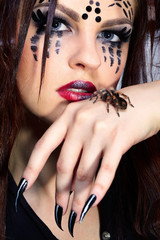 spider-girl and Brachypelma smithi