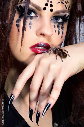 spider-girl and Brachypelma smithi