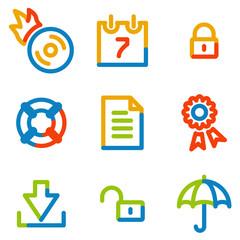 Data icons, colour contour series