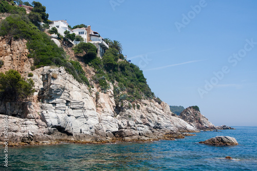Villas on sea coast