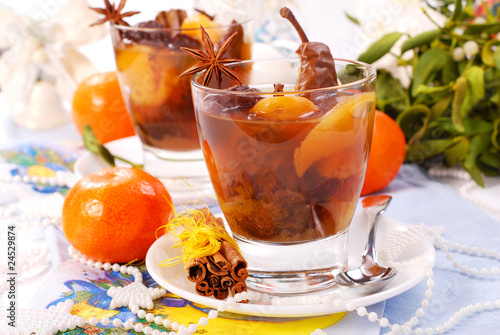 christmas compote of dried fruits - 24529874