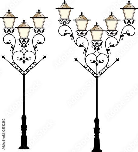 Wrought Iron Street Lamp