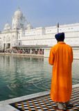 Golden temple in Amritsar, central religions place of the Sikhs poster
