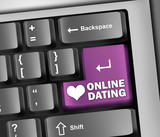 "Keyboard Illustration ""Online Dating"""