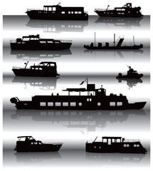 Ships with reflexions