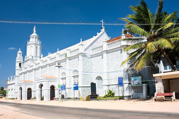 Catholic  Church in village near Kanyakumari,Tamil Nadu
