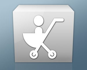 """Box-shaped Icon """"Stroller / Baby Transport"""""""