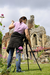 photographer working with ruins from Kent UK