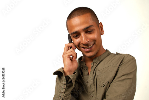 Middle eastern man phoning