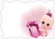 Neonato Femmina-Baby Girl-Vector