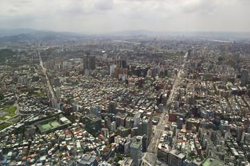 The view across Taipei, captial of Taiwan
