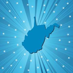 Blue West Virginia map